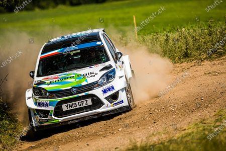 Editorial image of Rally 2021 FIA ERC Rally Poland, 1st round of the 2021 FIA European Rally Championship, Mikolajki, Italy - 18 Jun 2021