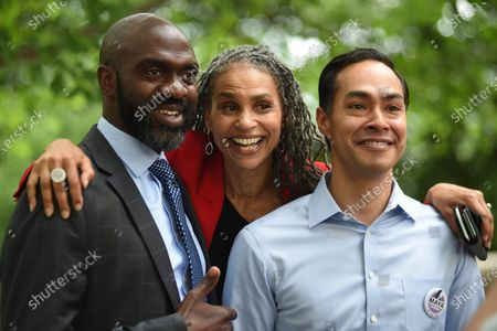 NYC mayoral candidate Maya Wiley campaigns in Riverside Park, New York