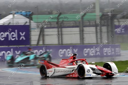 Stock Image of Nico Mueller, from the Geox Dragon team, in action during a practice session ahead of the Formula E World Championship, in Puebla, Mexico, 18 June 2021.