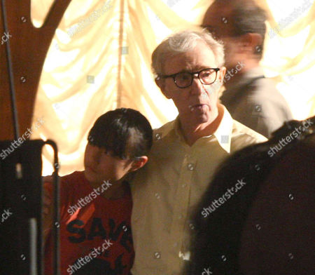 Stock Picture of Woody Allen and his daughter Bechet Dumaine Allen
