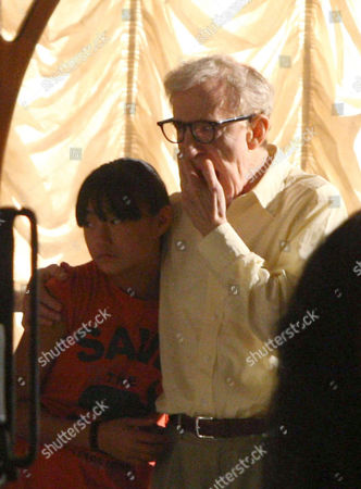 Stock Photo of Woody Allen and his daughter Bechet Dumaine Allen