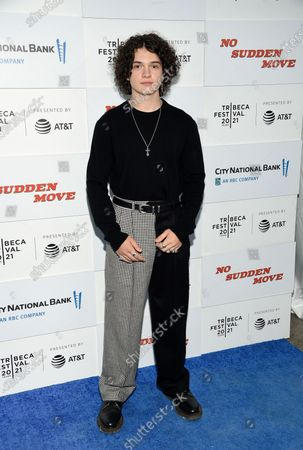 """Actor Noah Jupe attends the """"No Sudden Move"""" premiere during the 20th Tribeca Festival at The Battery, in New York"""