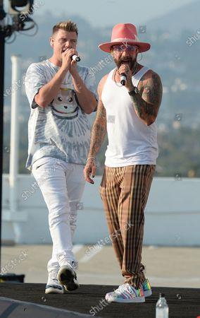 Nick Carter and AJ McLean