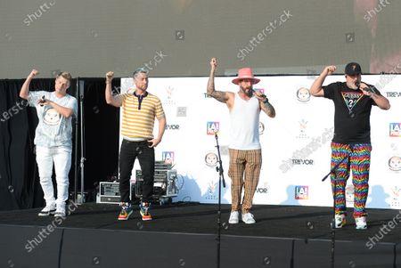Nick Carter, Lance Bass, Joey Fatone and AJ McLean