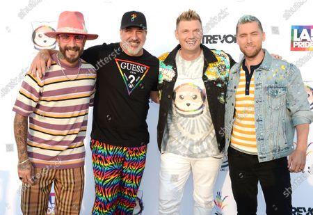 Stock Image of AJ McLean, Joey Fatone, Nick Carter and Lance Bass