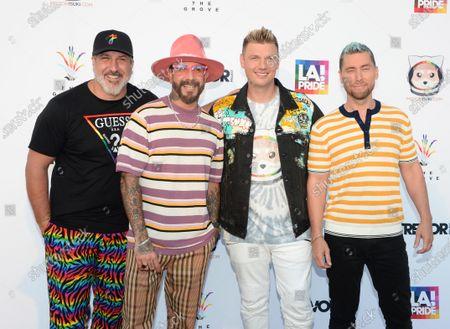 Joey Fatone, AJ McLean, Nick Carter and Lance Bass