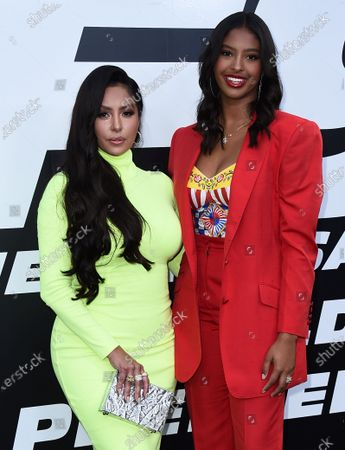 """Vanessa Bryant, right, and her daughter Natalia Diamante Bryant arrive at the Los Angeles premiere of """"F9: Fast & Furious 9"""" at the TCL Chinese Theatre on"""