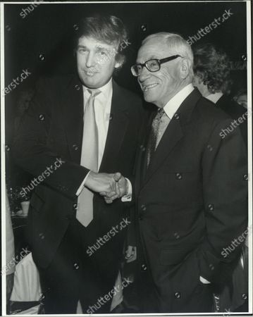 UNITED STATES - Donald Trump and Malcolm Forbes.