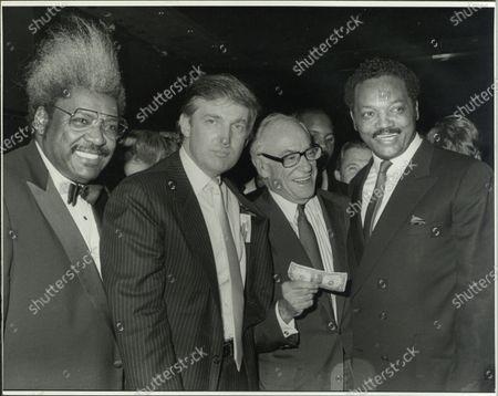 UNITED STATES - Don King, Donald Trump, Malcolm Forbes, Jesse Jackson