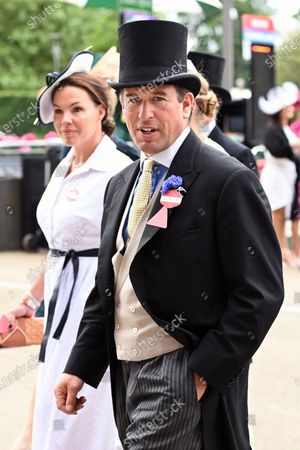 Stock Photo of Peter Phillips arrives at Ascot