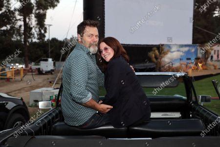 Nick Offerman and Megan Mullally