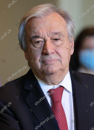 Secretary-General Antonio Guterres re-election press conference, New York