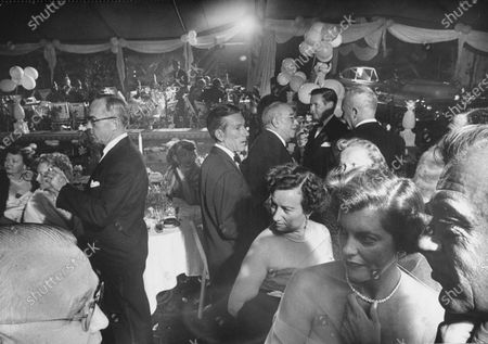 Hoagy Carmichael with others at Marion Davies party.