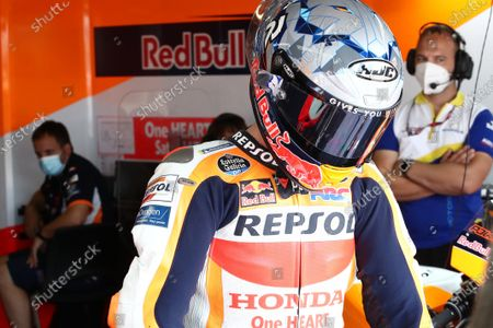 SACHSENRING, GERMANY - JUNE 19: Pol Espargaro, Repsol Honda Team during the German GP at Sachsenring on Saturday June 19, 2021 in Hohenstein Ernstthal, Germany. (Photo by Gold and Goose / LAT Images)