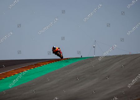 Spanish MotoGP rider Pol Espargaro of the Repsol Honda Teami in action during the free practice session of the Motorcycling Grand Prix of Germany at the Sachsenring racing circuit in Hohenstein-Ernstthal, Germany, 19 June 2021. The Motorcycling Grand Prix of Germany takes place on 20 June.