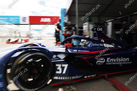 Stock Photo of Nick Cassidy (NZL), Envision Virgin Racing, Audi e-tron FE07, leaves the garage during the 2021 Formula E Round 8 - Puebla E-Prix