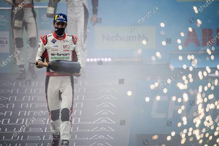 Lucas Di Grassi (BRA), Audi Sport ABT Schaeffler, 1st position, celebrates with Champagne during the 2021 Formula E Round 8 - Puebla E-Prix