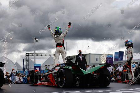 Lucas Di Grassi (BRA), Audi Sport ABT Schaeffler, 1st position, celebrates during the 2021 Formula E Round 8 - Puebla E-Prix