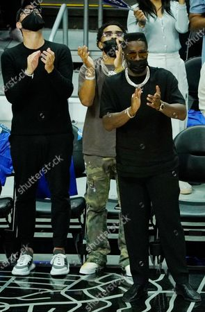 Sean Combs attends the LA Clippers game against the Utah Jazz, Los Angeles