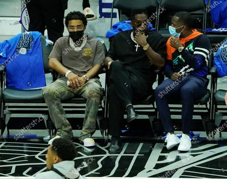 Sean Combs attends the LA Clippers game against the Utah Jazz during Round 2, Game 6 of the 2021 NBA Playoffs on June 18, 2021 at STAPLES Center in Los Angeles, California.