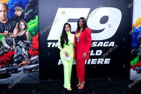 """Vanessa Bryant and daughter Natalia at the """"F9"""" premiere at TCL Chinese Theatre on Friday, June 18, 2021. (Myung J. Chun / Los Angeles Times)"""