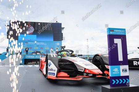 Stock Image of Lucas Di Grassi (BRA), Audi Sport ABT Schaeffler, Audi e-tron FE07, 1st position, drives into Parc Ferme during the 2021 Formula E Round 8 - Puebla E-Prix