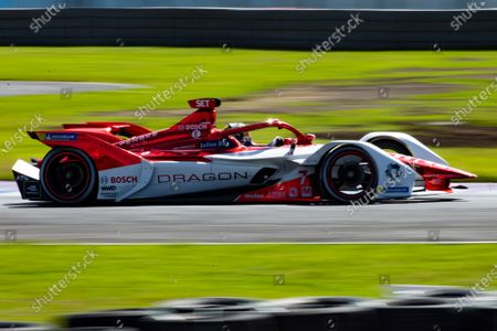 Nico Mueller, from the Geox Dragon team, in action during the Formula E championship, in the state from Puebla, Mexico, 19 June 2021.