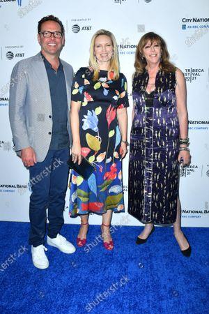 James Murdoch, Kathryn Hufschmid and Jane Rosenthal