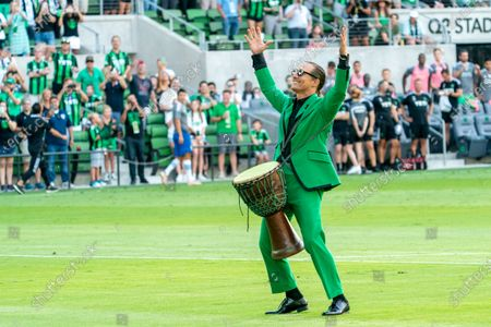 Austin FC co-owner and Minister of Culture Matthew McConaughey on the field before the match