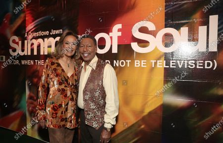 Marilyn McCoo and Billy Davis Jr. co-founders and lead vocalists of the original 5th Dimension attend Searchlight Pictures Summer of Soul Juneteenth Celebration in Marcus Garvey Park on Saturday, June 19,2021 in New York