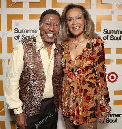Billy Davis Jr. and Marilyn McCoo, co-founders and lead vocalists of the original 5th Dimension attend Searchlight Pictures Summer of Soul Juneteenth Celebration in Marcus Garvey Park on Saturday, June 19,2021 in New York