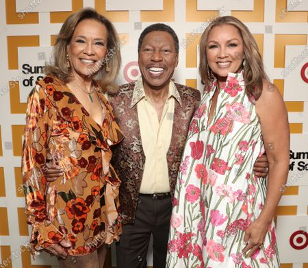 Marilyn McCoo, Billy Davis Jr., (co-founders and lead vocalists of the original 5th Dimension) and Venessa Williams attend Searchlight Pictures Summer of Soul Juneteenth Celebration in Marcus Garvey Park on Saturday, June 19,2021 in New York