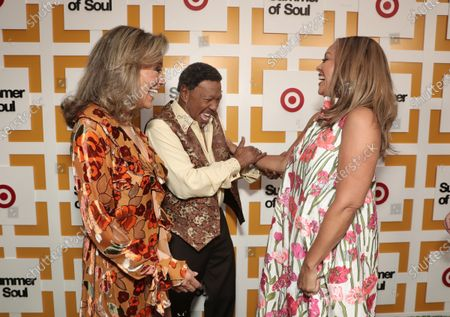 Marilyn McCoo, Billy Davis Jr. (co-founders and lead vocalists of the original 5th Dimension) and Venessa Williams attend Searchlight Pictures Summer of Soul Juneteenth Celebration in Marcus Garvey Park on Saturday, June 19,2021 in New York