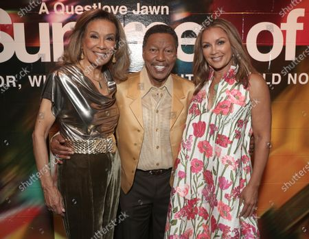 Billy Davis Jr. and Marilyn McCoo (co-founders and lead vocalists of the original 5th Dimension) and Vanessa Williams attend Searchlight Pictures Summer of Soul Juneteenth Celebration in Marcus Garvey Park on Saturday, June 19,2021 in New York