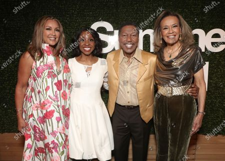 Vanessa Williams and Gladys Knight with Billy Davis Jr. and Marilyn McCoo co-founders and lead vocalists of the original 5th Dimension attend Searchlight Pictures Summer of Soul Juneteenth Celebration in Marcus Garvey Park on Saturday, June 19,2021 in New York