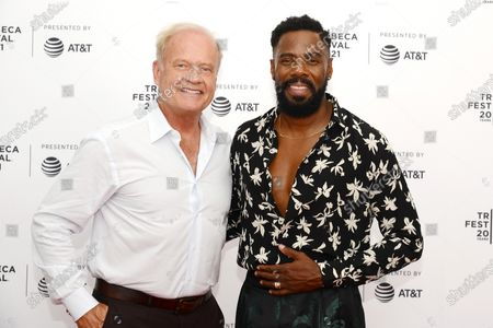 """Kelsey Grammer and Colman Domingo attend the 2021 Tribeca Festival Premiere of """"The God Committee""""."""