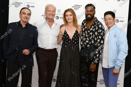 "Dan Hedaya, Kelsey Grammer, Julia Stiles, Colman Domingo and Peter Kim attend the 2021 Tribeca Festival Premiere of ""The God Committee""."