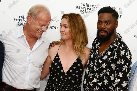 """Kelsey Grammer, Julia Stiles and Colman Domingo attend the 2021 Tribeca Festival Premiere of """"The God Committee""""."""