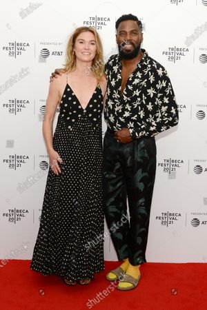 """Julia Stiles and Colman Domingo attend the 2021 Tribeca Festival Premiere of """"The God Committee""""."""