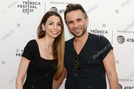 """Dr. Alin Gragossian and director Austin Stark attend the 2021 Tribeca Festival Premiere of """"The God Committee""""."""