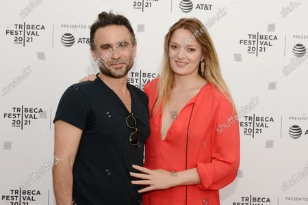 """Director Austin Stark and Daria Pahhota attend the 2021 Tribeca Festival Premiere of """"The God Committee""""."""