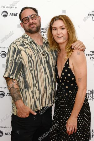"""Preston Cook and Julia Stiles attend the 2021 Tribeca Festival Premiere of """"The God Committee""""."""