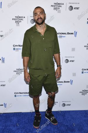 Jesse Williams attends the premiere of Dave Chappelle's untitled documentary during the closing night celebration for the 20th Tribeca Festival, at Radio City Music Hall,, in New York