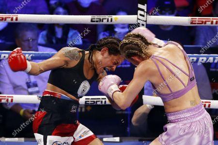 Editorial picture of Erica Farias vs. Mikaela Mayer, Las Vegas, USA - 19 Jun 2021