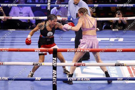 Editorial photo of Erica Farias vs. Mikaela Mayer, Las Vegas, USA - 19 Jun 2021