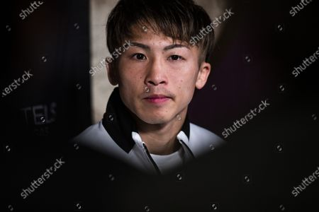Stock Photo of Naoya Inoue of Japan attends a press conference after his victory against Michael Dasmarinas of the Philippines in their 12 round WBA/IBF Bantamweight Title fight at The Theater at Virgin Hotels in Las Vegas, Nevada, USA, 19 June 2021.