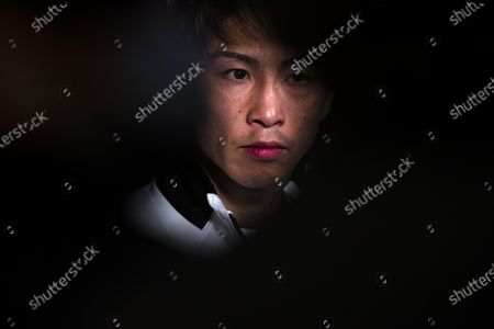 Naoya Inoue of Japan attends a press conference after his victory against Michael Dasmarinas of the Philippines in their 12 round WBA/IBF Bantamweight Title fight at The Theater at Virgin Hotels in Las Vegas, Nevada, USA, 19 June 2021.