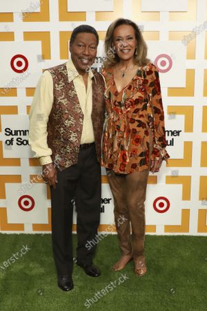 """Billy Davis and Marilyn McCoo attends a special screening of """"Summer of Soul"""" at The Richard Rodgers Amphitheater at Marcus Garvey Park, in New York"""