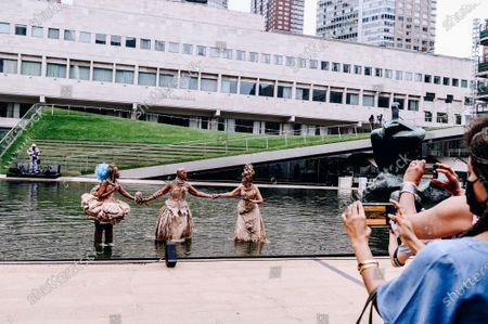 """Editorial photo of """"I Dream a Dream That Dreams Back at Me"""", Lincoln Center celebrates  Juneteenth, New York, USA - 19 Jun 2021"""