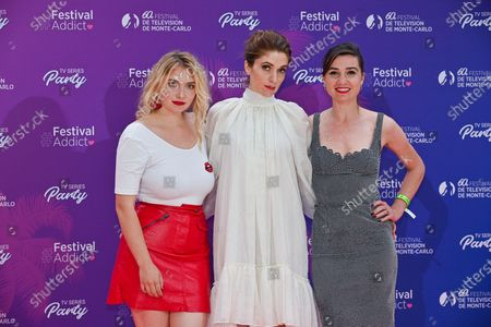 Stock Picture of Lula Cotton Frapier, Maud Wyler and Nina Meurisse and a guest attends the TV Series Party during the 60th Monte Carlo TV Festival